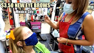 "$3.50 MEXICAN EYE BROW TRIM AND COLORING by ""Yamel"" (Mommy Makeover) 🇲🇽 Mexico City ASMR"
