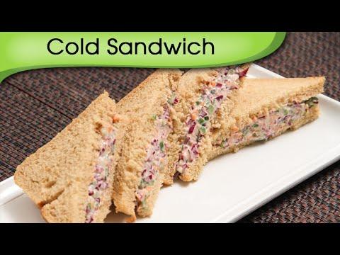 Cold Sandwich - Quick Five Minutes Snack / Tiffin Recipe By Ruchi Bharani