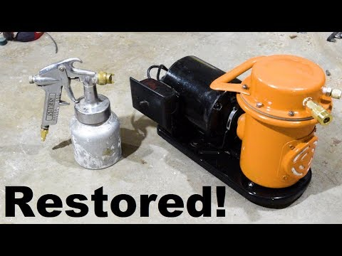 Restoring A Paint Sprayer Air Compressor Bringing A