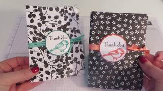 Gift wallet with matching note card - video tutorial with Petal Palette from Stampinøhyy5x
