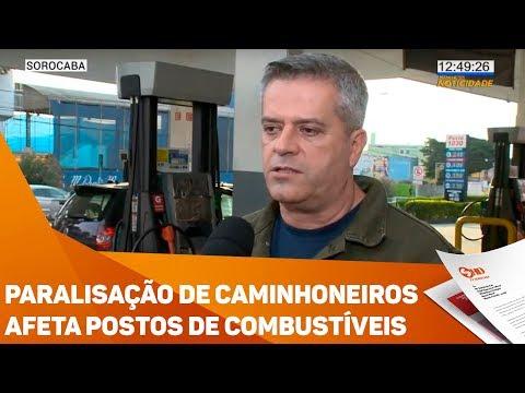 Paralisação de caminhoneiros afeta postos de combustíveis - TV SOROCABA/SBT