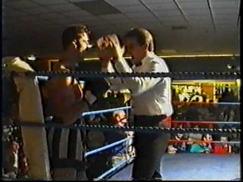 Scott Collin in his first Thai Boxing fight in New...