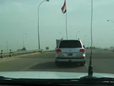 Leaving Baghdad Airport on the Baghdad Airport Road