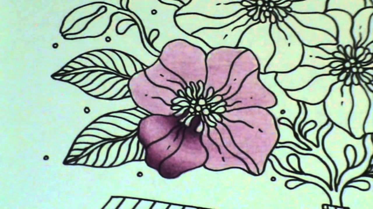 Tuto coloriage fleur aux crayons de couleurs - YouTube