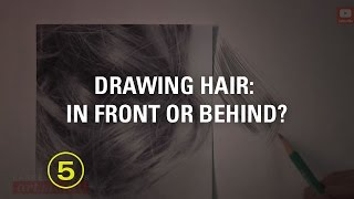 Drawing a Realistic Curl With Dimension (Touchable Textures #7)