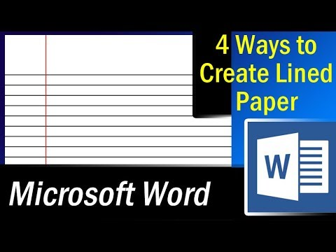 4 Easy Ways To Create Lined Paper In MS Word U2013 Microsoft Word Tutorial  Lined Paper Word