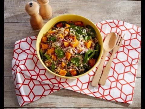 Summer Salad - Poh's SunRice Brown Rice, Roasted Pumpkin & Pine Nut Salad