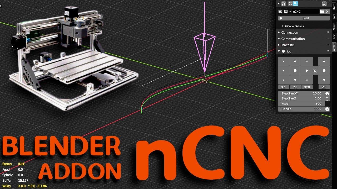 nCNC - Import / Export G Code - Blender Addon - YouTube