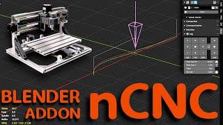 nCNC - Import / Export G Code - Blender Addon