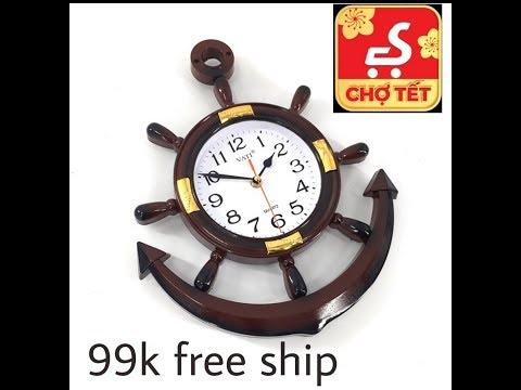 Rewiew ₫ồng Hồ Mỏ Neo Treo Tường Tường Vati Giá 99k Free Ship.Rewiew VND Wall Hanging Clock Price 9