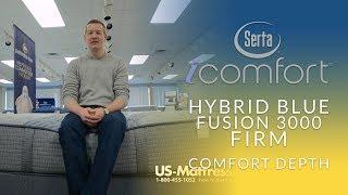 Serta iComfort Hybrid Blue Fusion 3000 Firm Mattress Comfort Depth 1