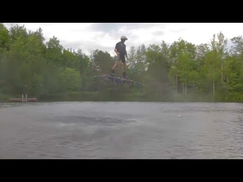 Watch this hoverboard fly over water