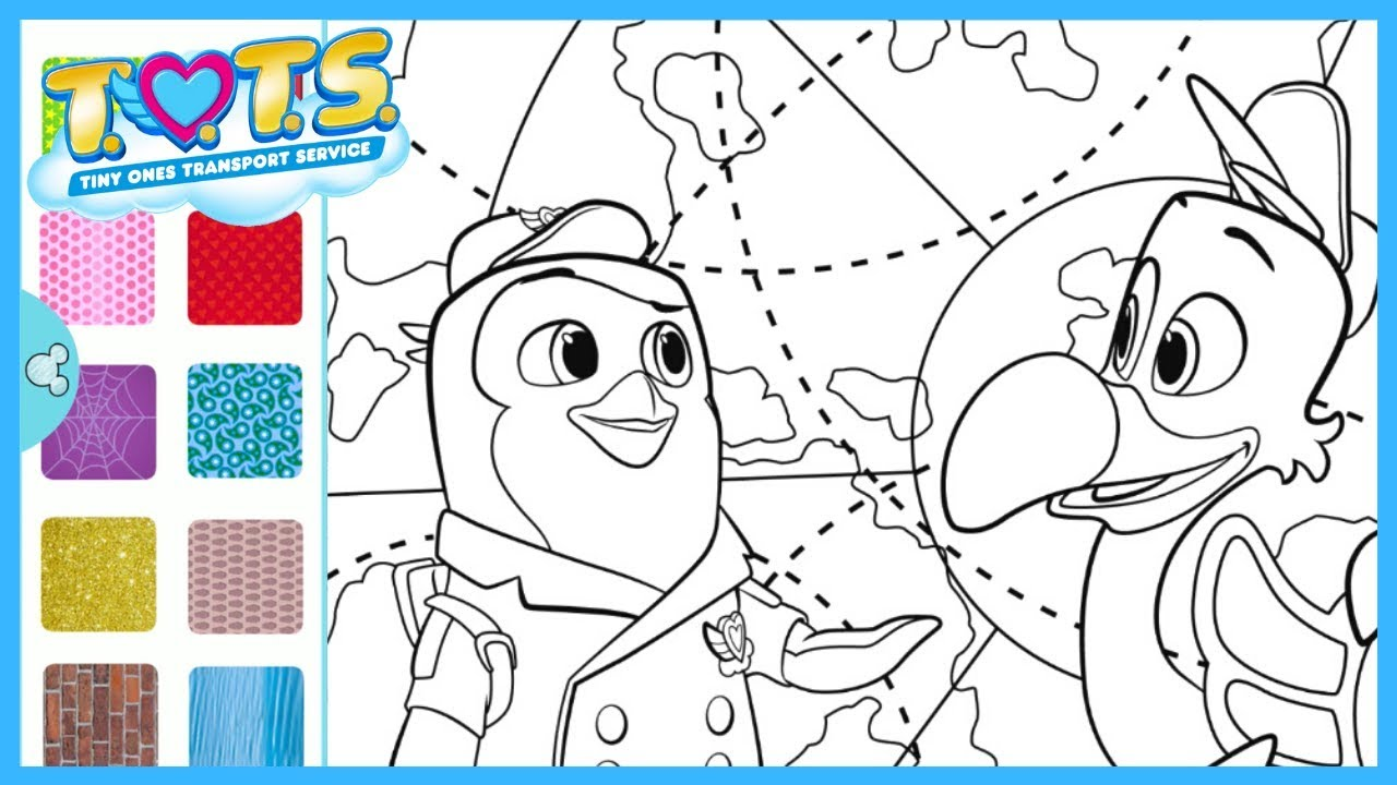 TOTS Pip and Freddy Fly Pad Sparkle Coloring | Disney ...