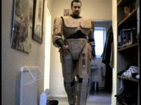 Cardboard Robocop Armour Test Fit Youtube