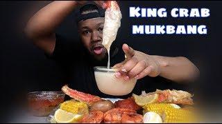 King crab W/Alfredo sauce Mukbang | King crab with Alfredo sauce