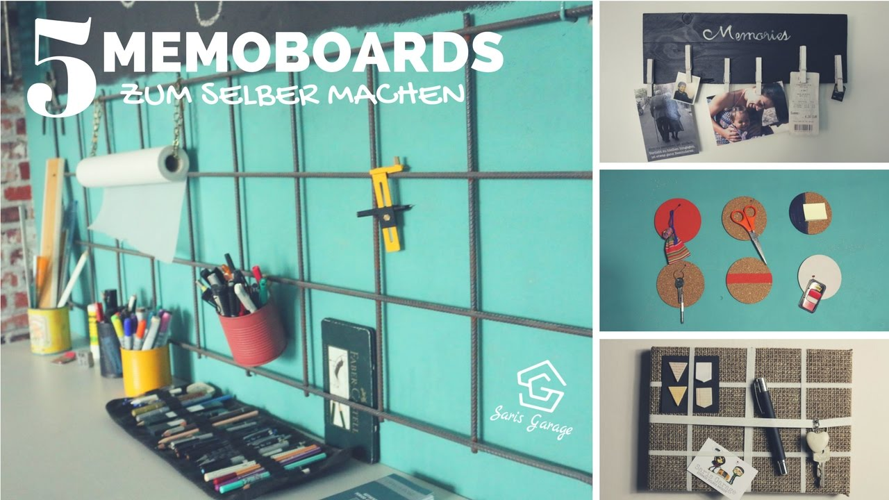 memoryboard selber machen diy memo board pinnwand do it yourself upcycling youtube. Black Bedroom Furniture Sets. Home Design Ideas