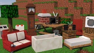 Minecraft: MÓVEIS MOD (COMPUTADOR, PRIVADA, FOGÃO, BANHEIRA) FURNITURE Mod Showcase