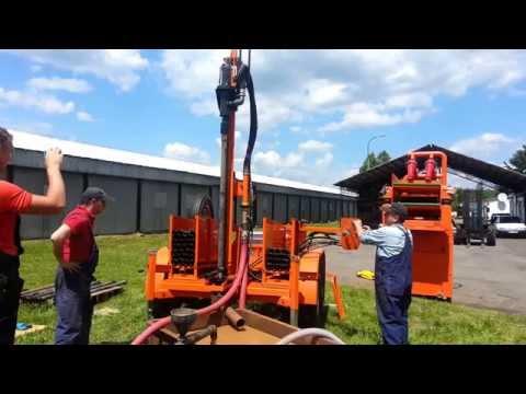 Wiertnica pionowa hydrauliczna MARPOL LM-400 do pomp ciepła i studni