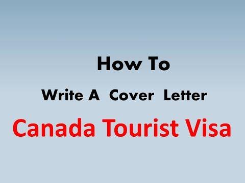 visa application letter or cover letter sample