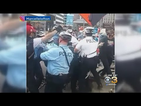 2 Philadelphia Police Officers Injured During Center City Protest