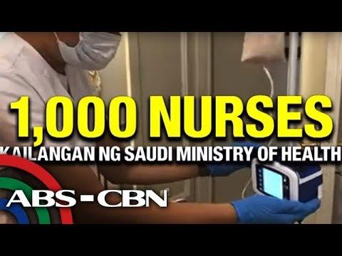 Download TV Patrol: Saudi Arabia, nangangailangan ng 1,000 Pinoy nurse