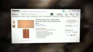 Teak Wood Table Lamp Natural Rustic Home Decor - Table Lamp Design