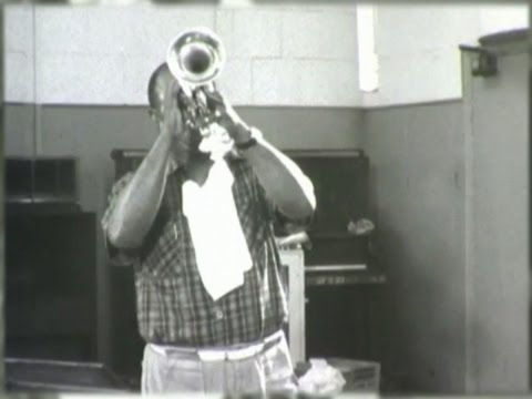 Rare Film Of Louis Armstrong In Recording Studio