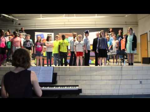 """TMS Senior Choir Performing """"Ghost in the music room."""""""