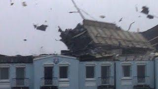 Orkan reißt Dach weg - Orkan Christian Norderney - 28.10.2013