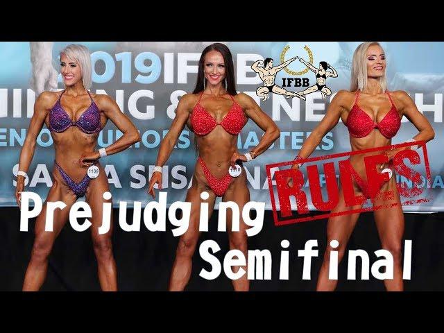 IFBB Rules, номинация фитнес-бикини, версия 2019 года - Prejudging / Полуфинал.