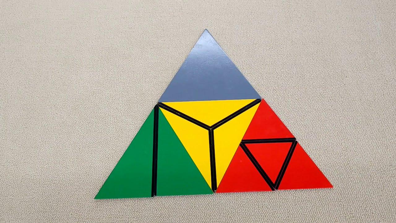 モンテッソーリ教育 提示(構成三角形3)