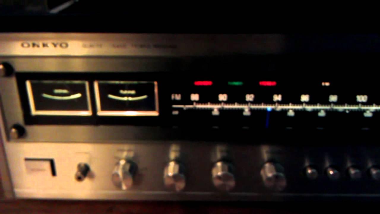 Onkyo TX-4500 am fm stereo receiver - YouTube