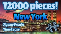 12000 piece Ravensburger puzzle time lapse