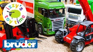 Cars for Kids | Bruder Toy Trucks are the BEST EVER | Father Son Toy Construction Vehicles for Kids
