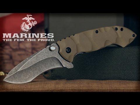 USMC Desert Warrior Assisted-Open Folding Knife - YouTube