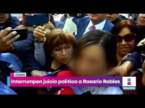 """Interrumpen juicio político de Rosario """"R""""   Noticias con Yuriria Sierra"""