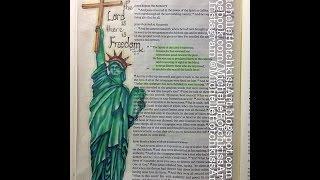 Bible Art Journaling With Michelle Hotchkiss. Luke 4:18-19 & 21