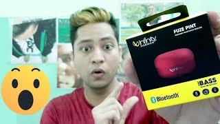 Infinity (JBL) Fuze Pint Deep Bass Portable Wireless Speaker Unboxing Review sound Test