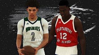 NBA 2K18 - High School Hoops 2K18 - All Time Chino Hills vs Zion Williamson