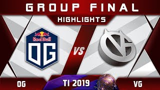 OG vs VG - EPIC TECHIES! TI9 Group Final The International 2019 Highlights Dota 2