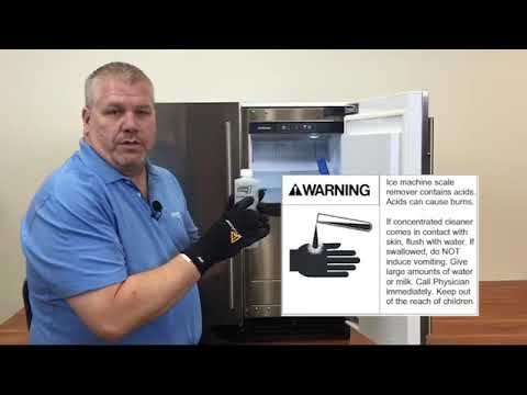 Scotsman SCC50 Cube Ice Machine Cleaning