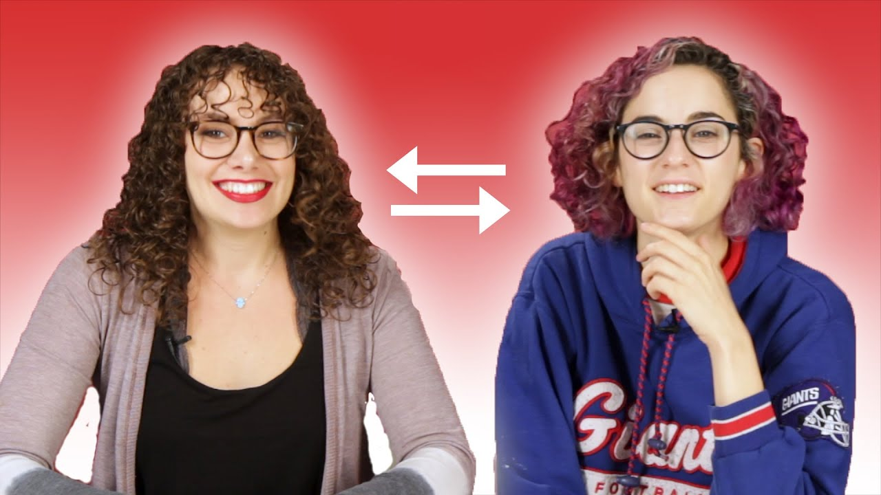74077bba34a4 Curly-Haired Women Swap Hair Routines - YouTube
