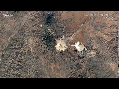 Google Timelapse: Cananea Mine, Mexico