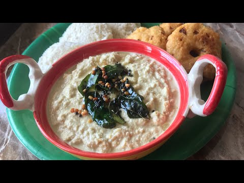 Hotel style coconut chutney for idli and dosa fresh coconut chutney