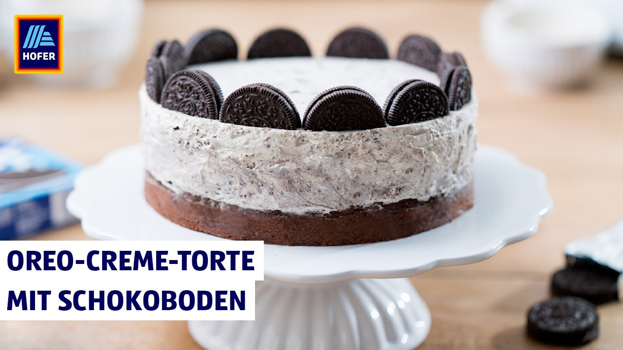 Oreo Creme Torte Mit Schokoboden Backen Mit Hofer Youtube