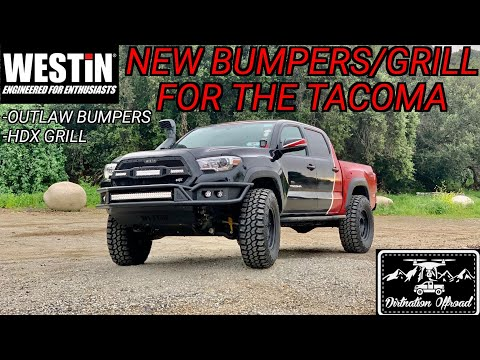 Toyota Tacoma makeover! Westin Automotive Outlaw Bumpers/HDX Grill Install!