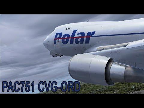 Prepar3d v3.4 Polar Air Cargo 751 Cincinnati - Chicago