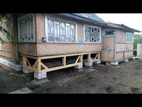 Поднятие дома с заменой фундамента