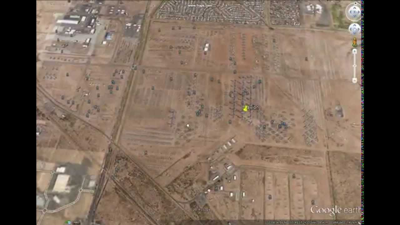 Cimetiere Avion Usa cimetière géant d'avion google earth - youtube