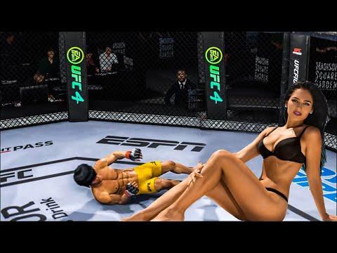 UFC4 Bruce Lee vs fat girl EA Sports UFC 4